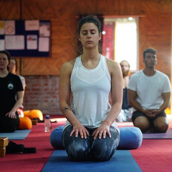 During yoga teacher training