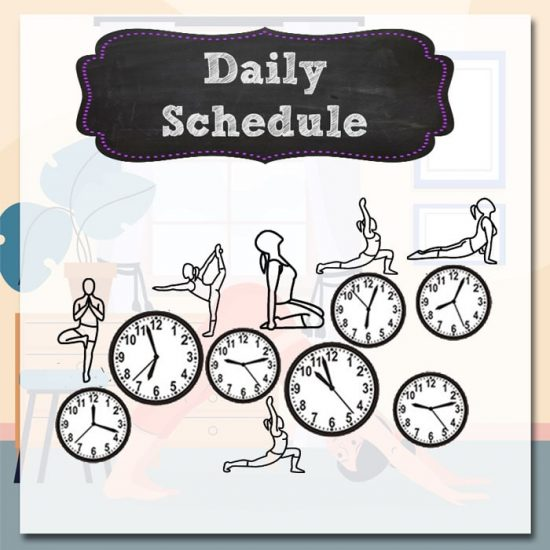 Daily Schedule for Online Yoga TTC